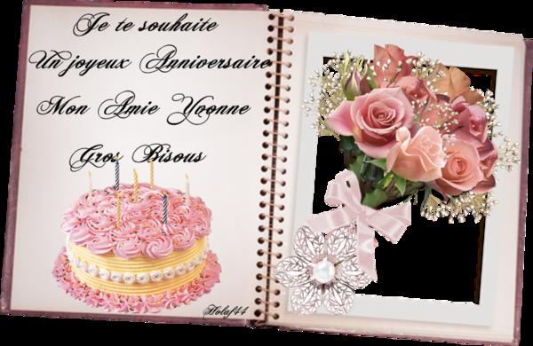Joyeux Anniversaire Mon Amie Yvonne