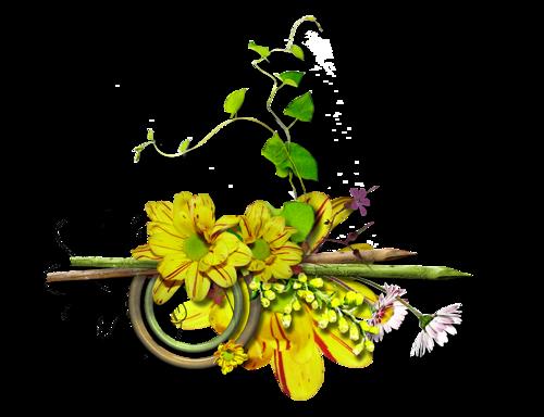 Barres de séparation fleurs pour vos créations