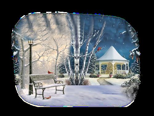 Tube de paysage d'hiver