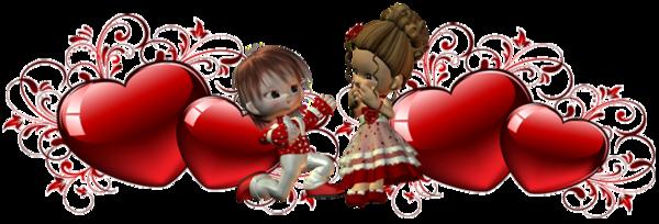 Barres de séparation Saint-Valentin