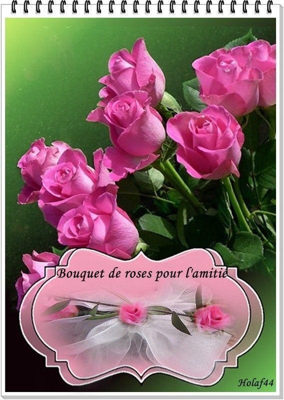 Un bouquet de roses pour l'amitié