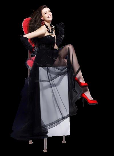 femme_rouge_et_noir_sur_chaise