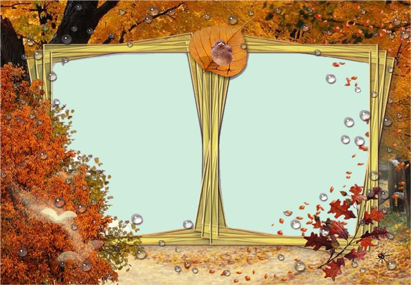 Cadres automne pour vos creas - Cadre photo transparent plastique ...